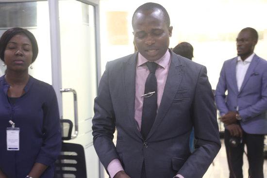 Mr.-Ademola-leading-the-opening-prayer